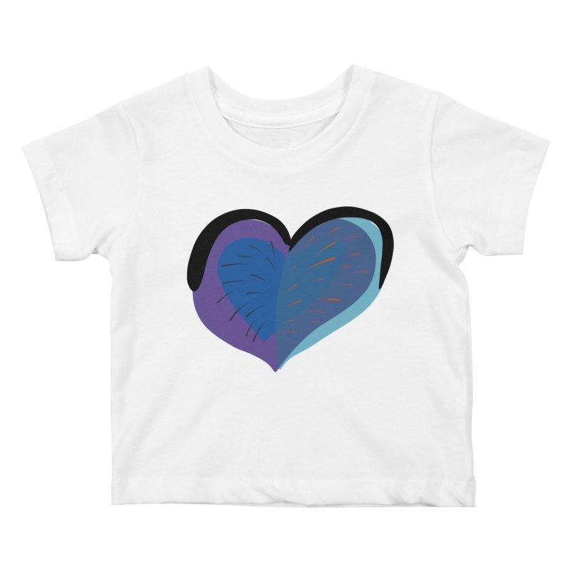 Purple Heart Kids Baby T-Shirt by Michael Pfleghaar