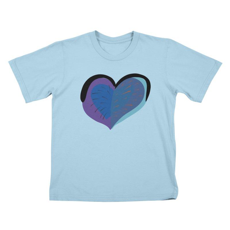 Purple Heart Kids T-Shirt by Michael Pfleghaar