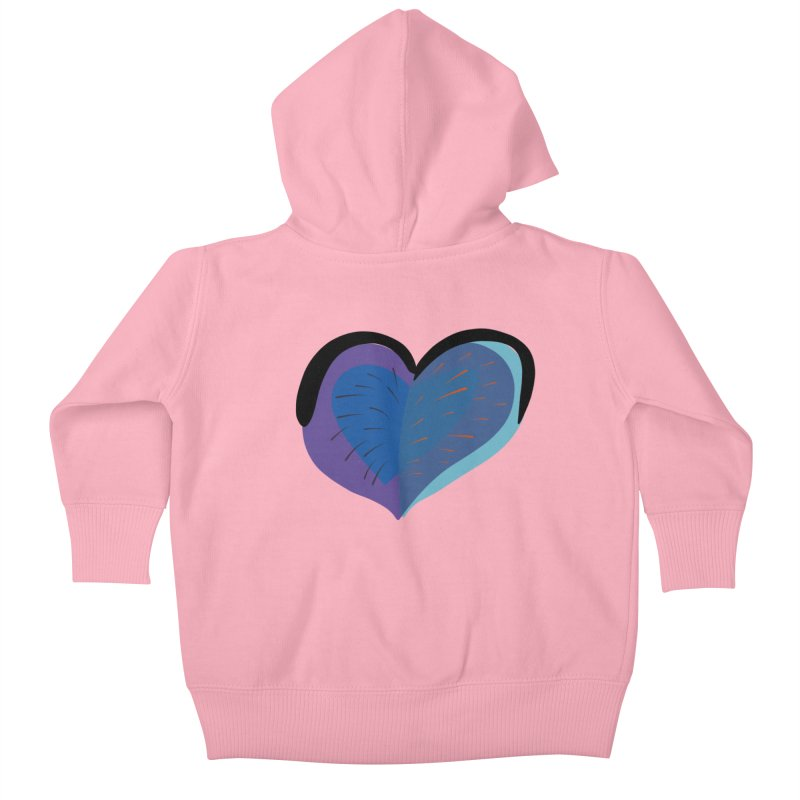 Purple Heart Kids Baby Zip-Up Hoody by Michael Pfleghaar
