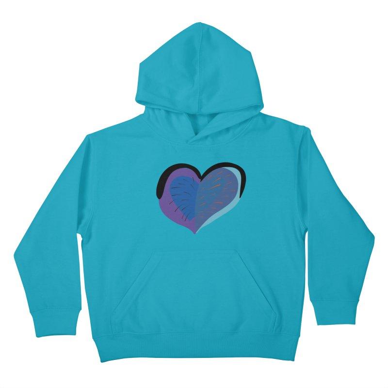 Purple Heart Kids Pullover Hoody by Michael Pfleghaar