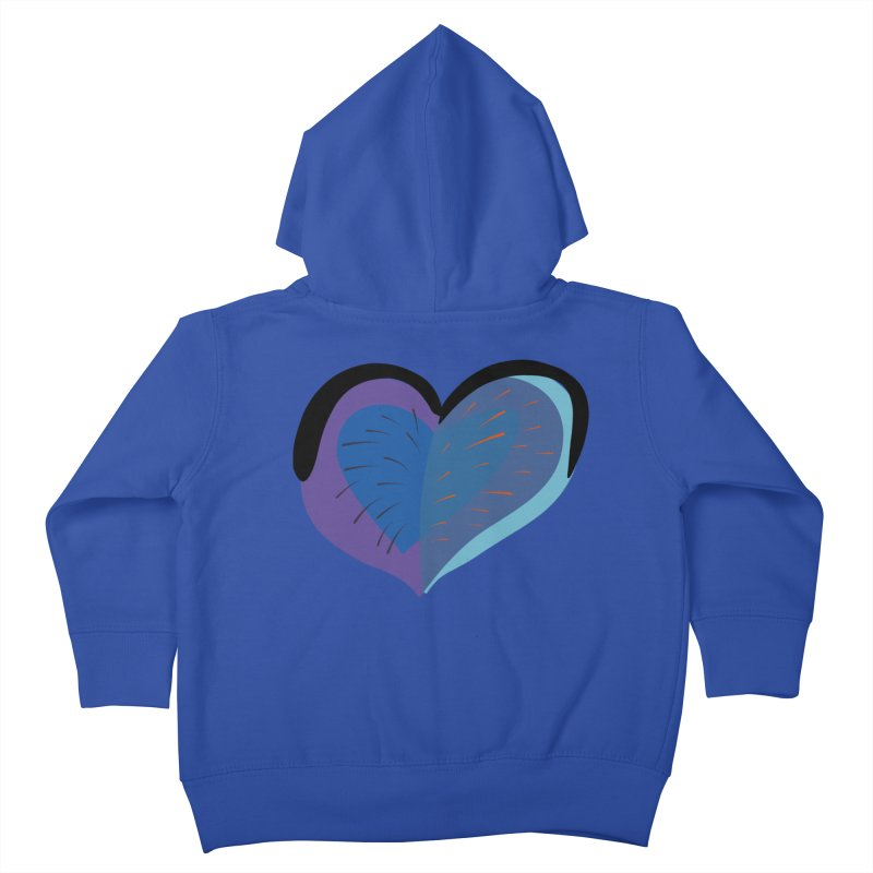 Purple Heart Kids Toddler Zip-Up Hoody by Michael Pfleghaar