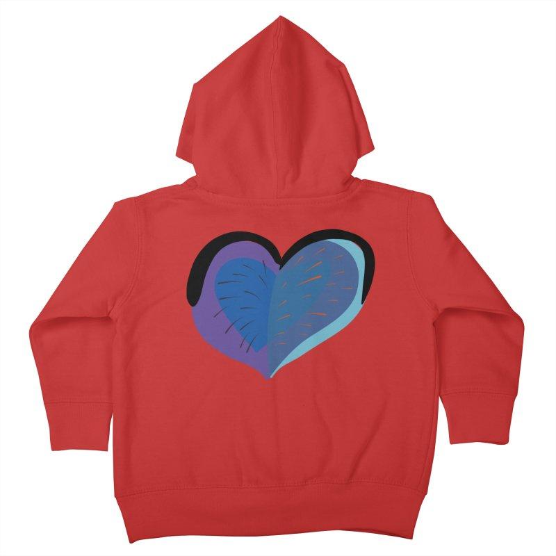 Purple Heart Kids Toddler Zip-Up Hoody by Michael Pfleghaar