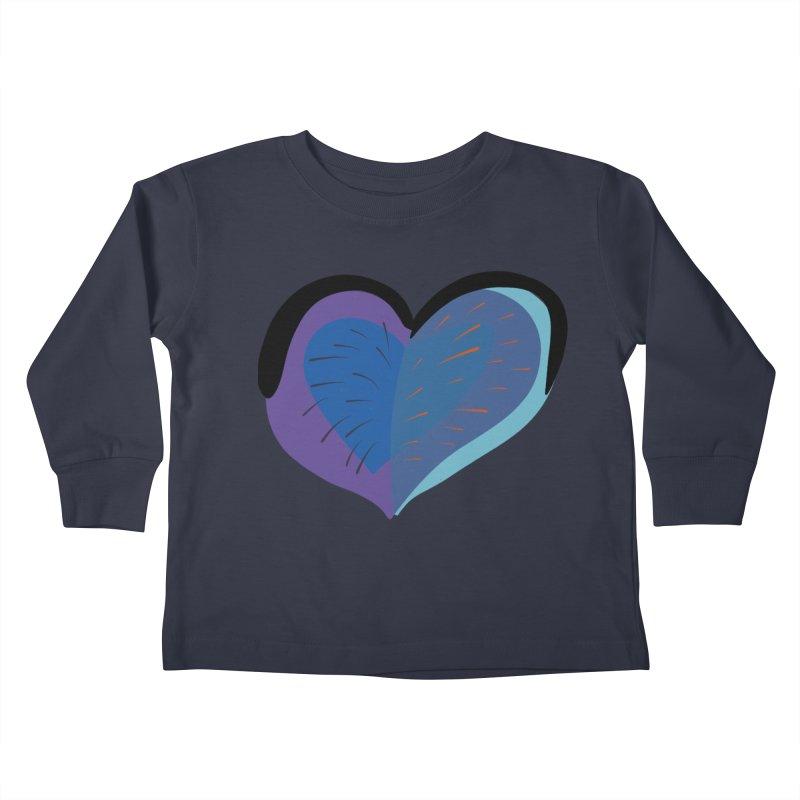 Purple Heart Kids Toddler Longsleeve T-Shirt by Michael Pfleghaar