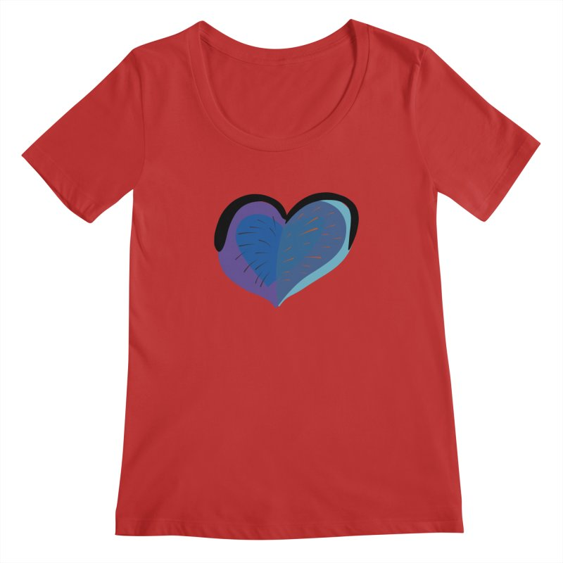 Purple Heart Women's Scoopneck by Michael Pfleghaar