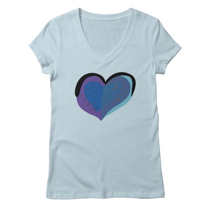 Purple Heart Women's Regular V-Neck by Michael Pfleghaar