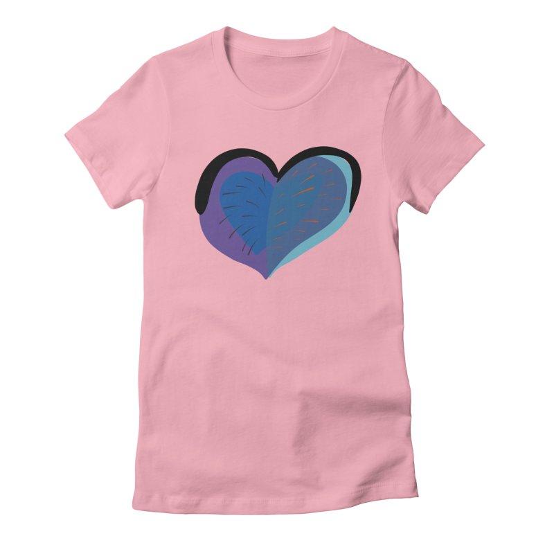 Purple Heart Women's Fitted T-Shirt by Michael Pfleghaar