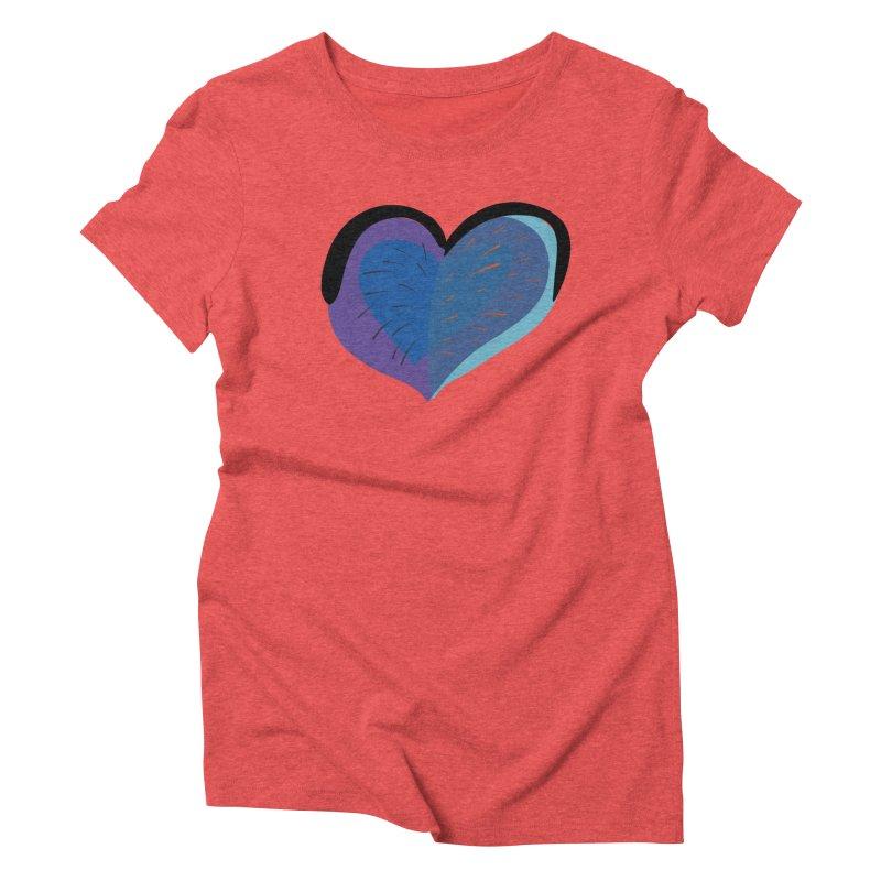 Purple Heart Women's Triblend T-Shirt by Michael Pfleghaar