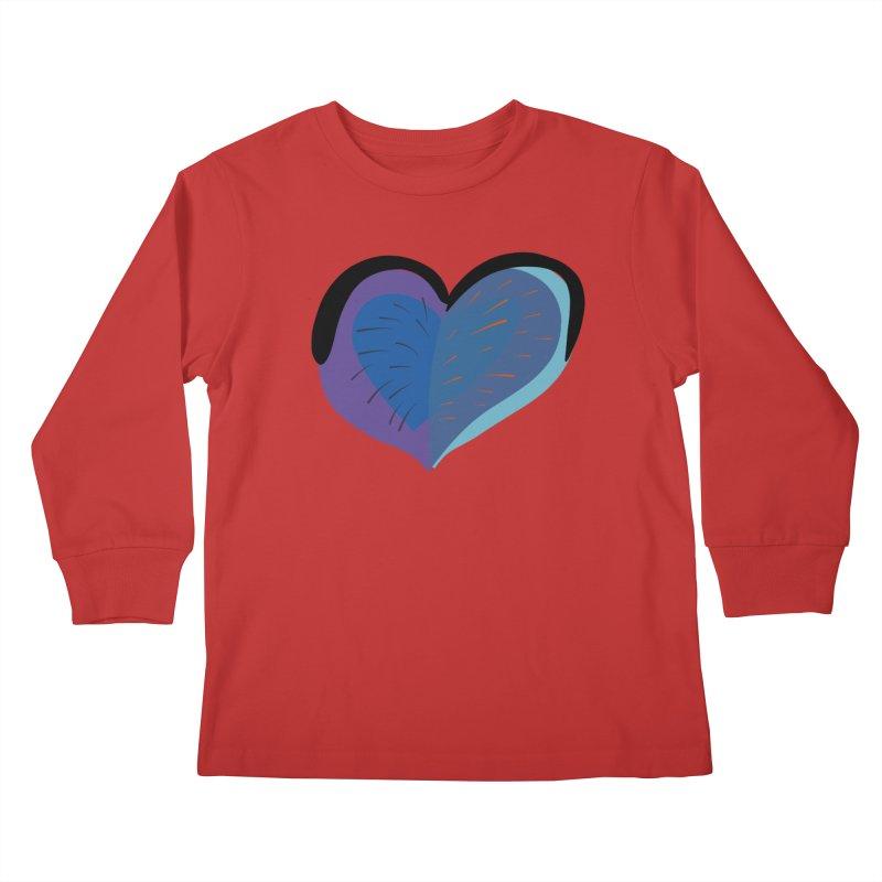 Purple Heart Kids Longsleeve T-Shirt by Michael Pfleghaar