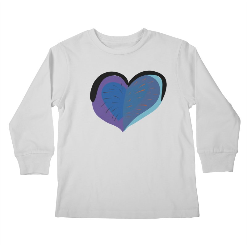 Purple Heart Kids Longsleeve T-Shirt by Michael Pfleghaar