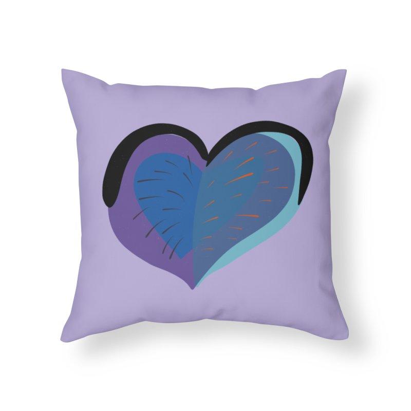 Purple Heart in Throw Pillow by Michael Pfleghaar