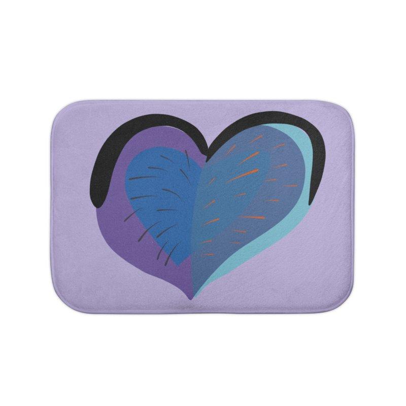 Purple Heart Home Bath Mat by Michael Pfleghaar
