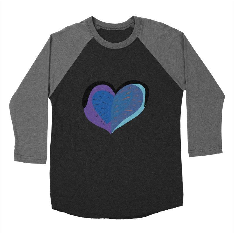Purple Heart Women's Baseball Triblend Longsleeve T-Shirt by Michael Pfleghaar
