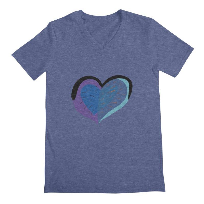 Purple Heart Men's Regular V-Neck by Michael Pfleghaar