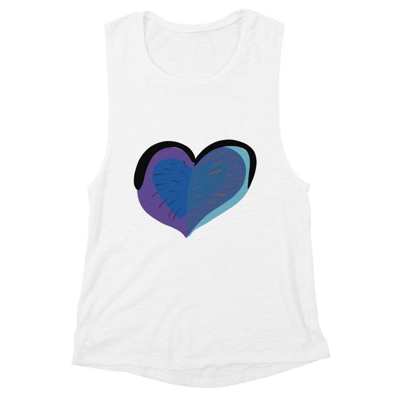 Purple Heart Women's Muscle Tank by Michael Pfleghaar