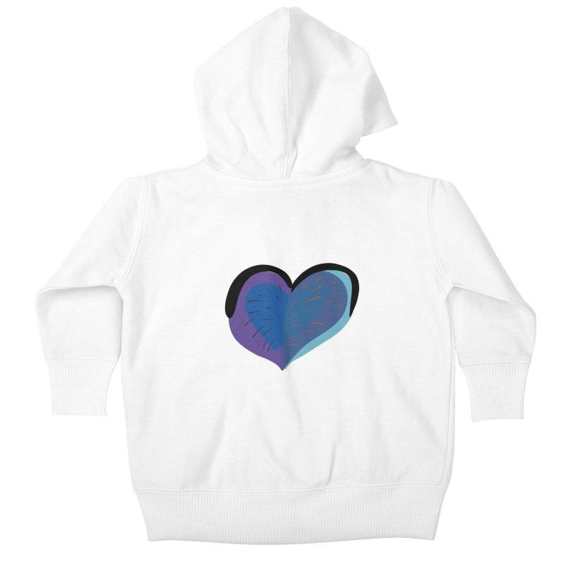Purple Heart Kids Baby Zip-Up Hoody by Michael Pfleghaar