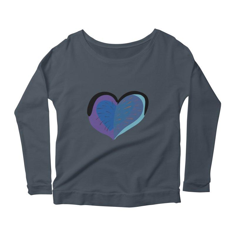Purple Heart Women's Scoop Neck Longsleeve T-Shirt by Michael Pfleghaar