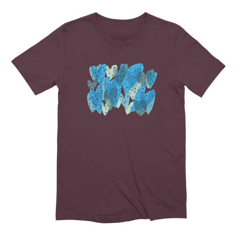 Blue Hearts Men's Extra Soft T-Shirt by Michael Pfleghaar