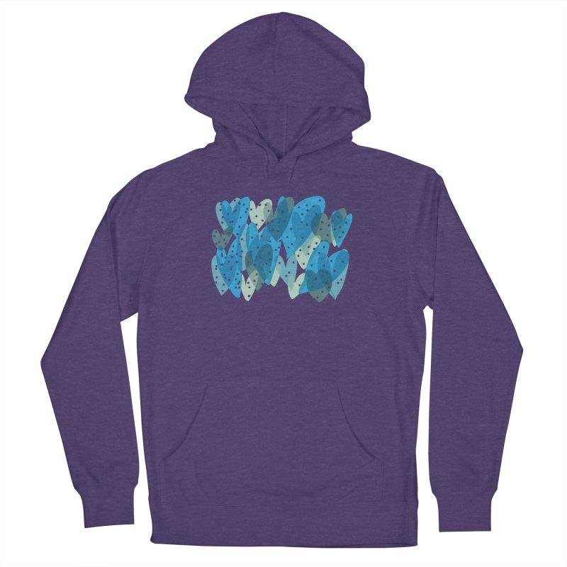 Blue Hearts Women's Pullover Hoody by Michael Pfleghaar