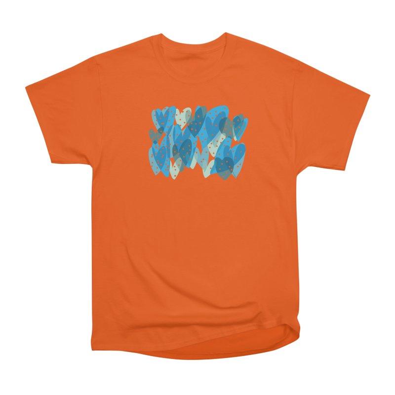 Blue Hearts Men's Heavyweight T-Shirt by Michael Pfleghaar