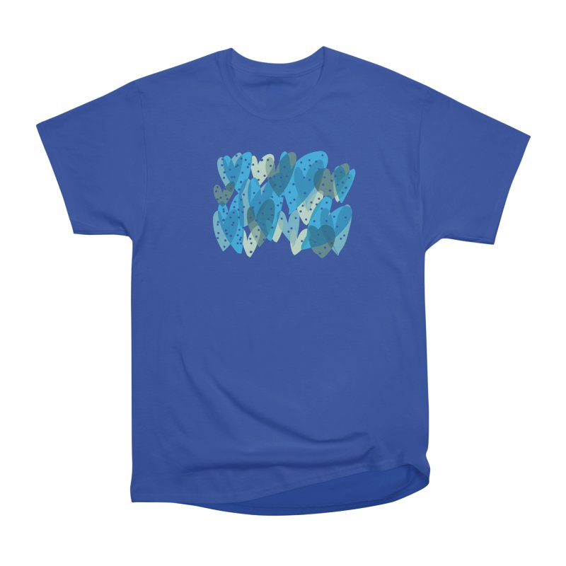 Blue Hearts Men's Heavyweight T-Shirt by Michael Pfleghaar