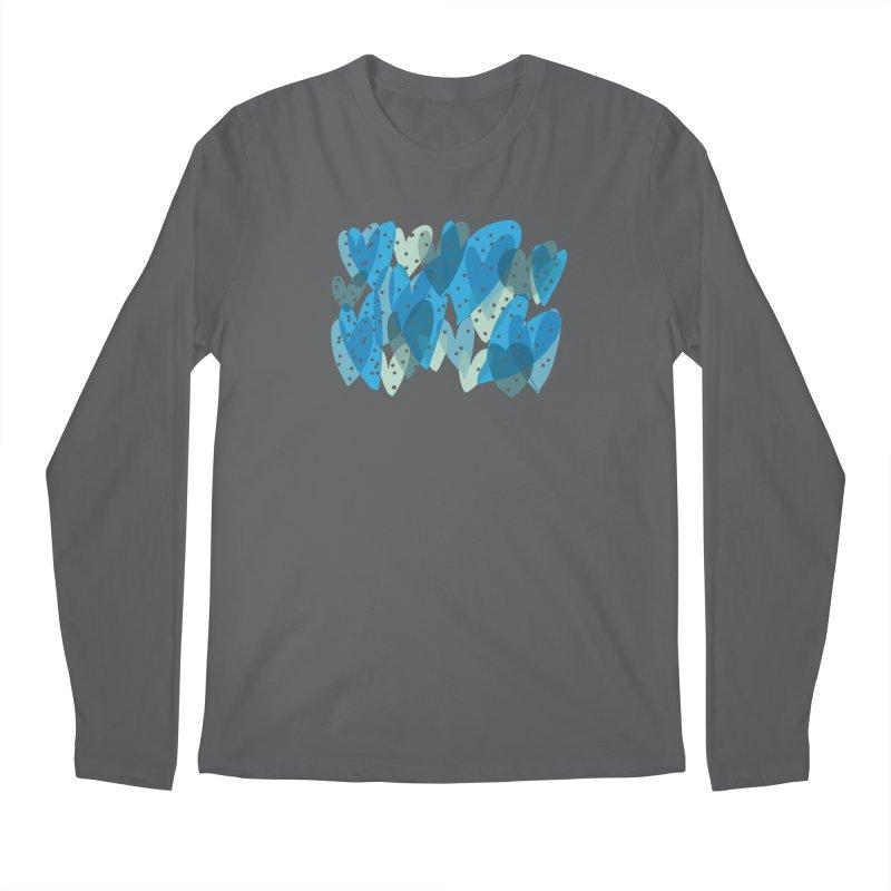 Blue Hearts Men's Regular Longsleeve T-Shirt by Michael Pfleghaar
