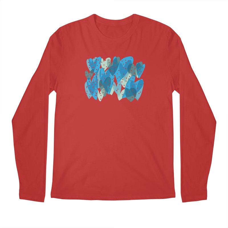 Blue Hearts Men's Longsleeve T-Shirt by Michael Pfleghaar
