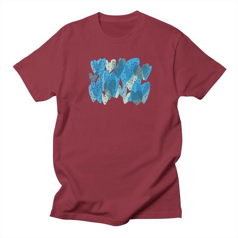 Blue Hearts Women's Unisex T-Shirt by Michael Pfleghaar
