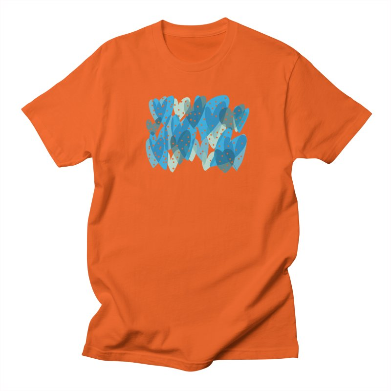 Blue Hearts Women's Regular Unisex T-Shirt by Michael Pfleghaar