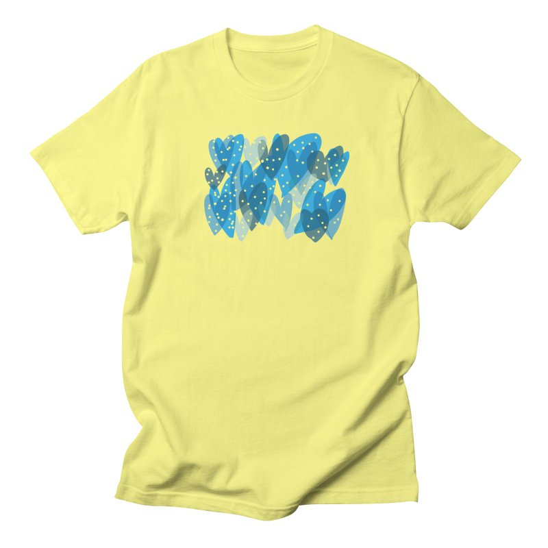 Blue Hearts Men's Regular T-Shirt by Michael Pfleghaar