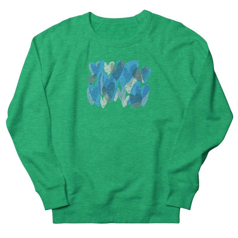 Blue Hearts Women's French Terry Sweatshirt by Michael Pfleghaar