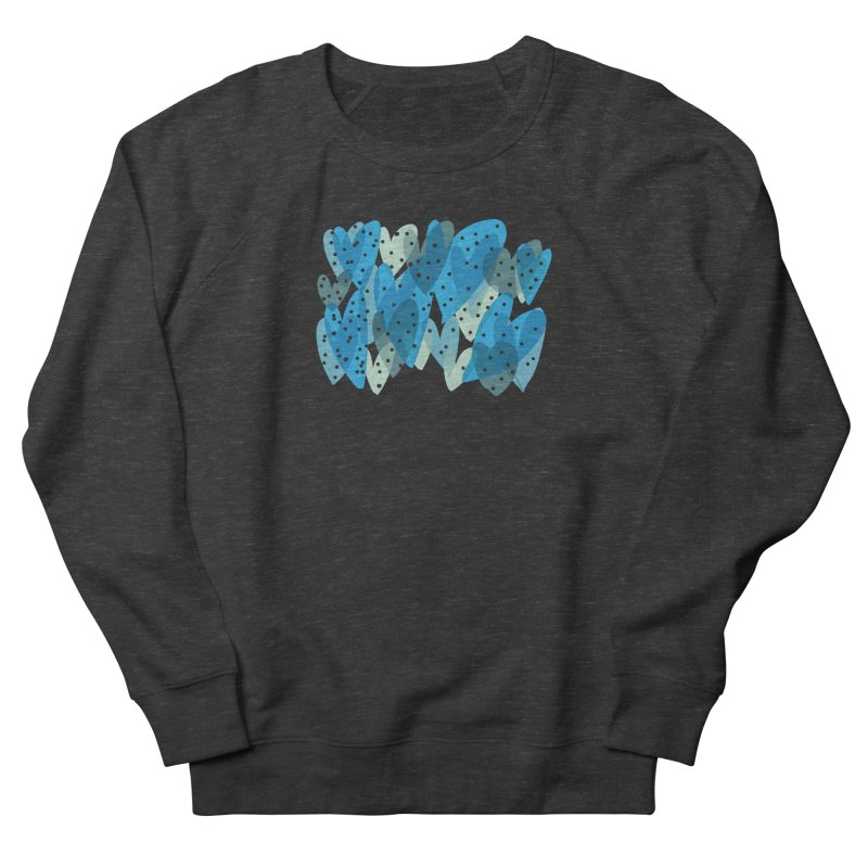 Blue Hearts Women's French Terry Sweatshirt by Michael Pfleghaar