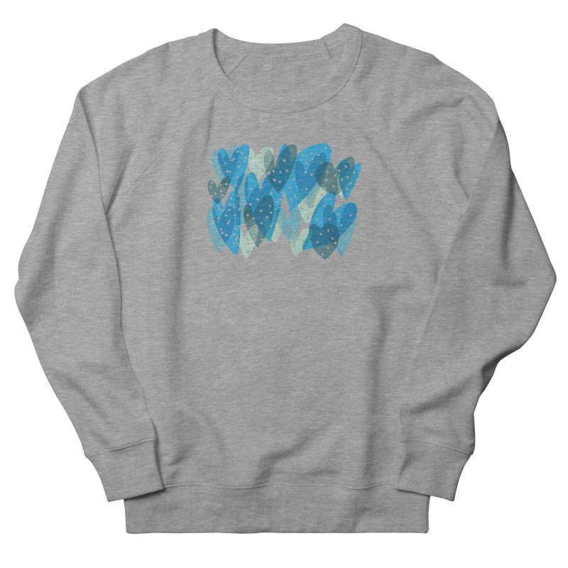 Blue Hearts Men's French Terry Sweatshirt by Michael Pfleghaar