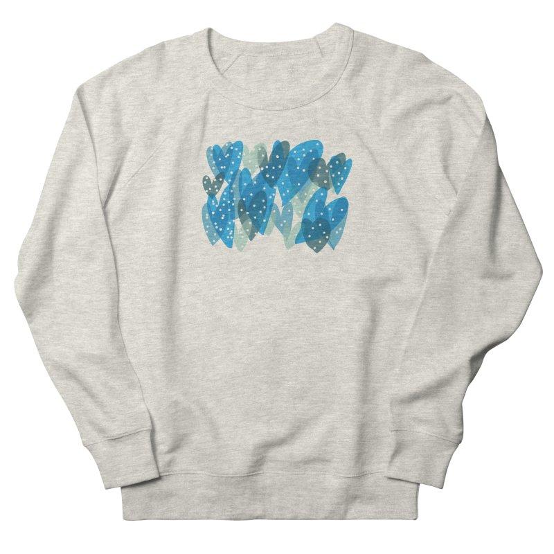 Blue Hearts Men's French Terry Sweatshirt by Michael Pfleghaar