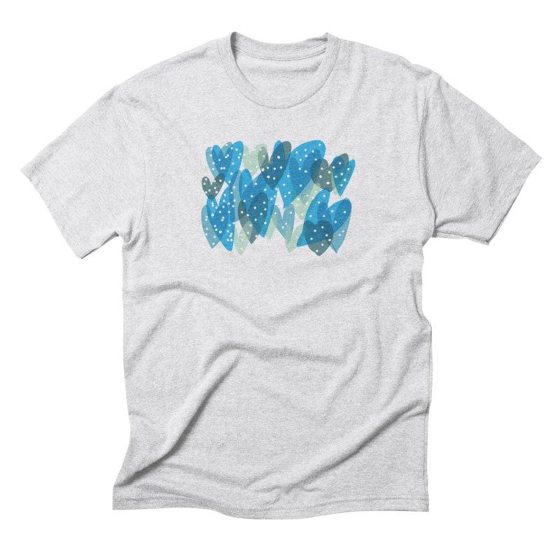 Blue Hearts Men's Triblend T-Shirt by Michael Pfleghaar