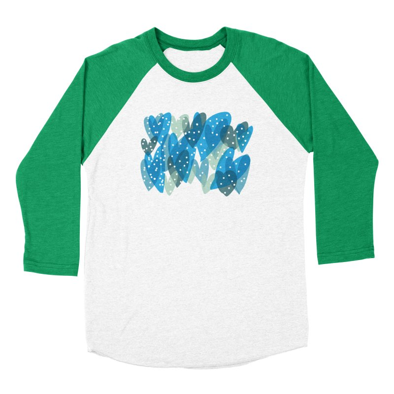 Blue Hearts Men's Baseball Triblend Longsleeve T-Shirt by Michael Pfleghaar