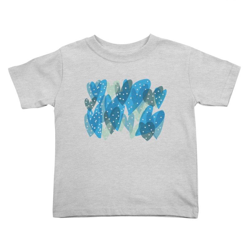 Blue Hearts Kids Toddler T-Shirt by Michael Pfleghaar
