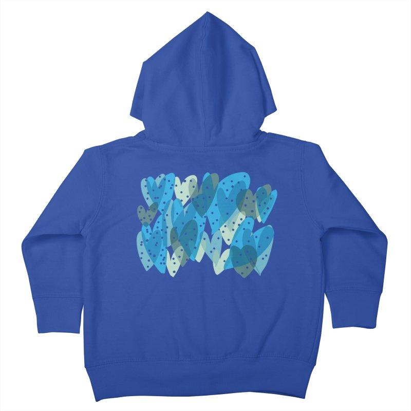 Blue Hearts Kids Toddler Zip-Up Hoody by Michael Pfleghaar