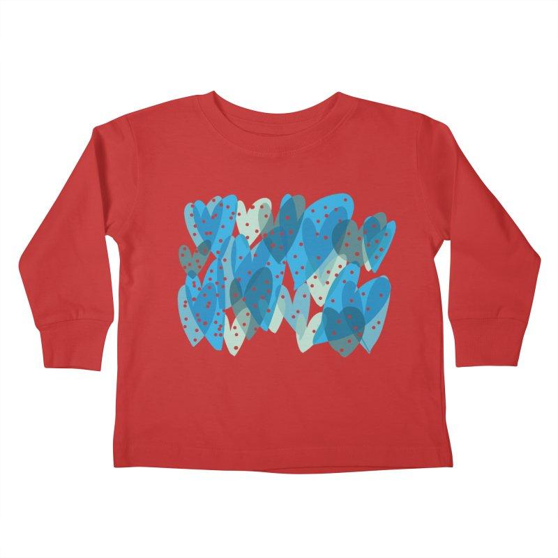 Blue Hearts Kids Toddler Longsleeve T-Shirt by Michael Pfleghaar
