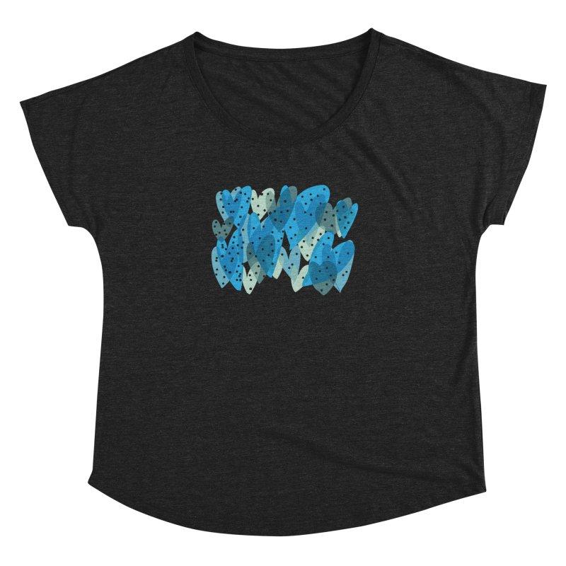 Blue Hearts Women's Dolman by Michael Pfleghaar
