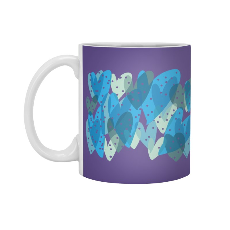 Blue Hearts Accessories Mug by Michael Pfleghaar