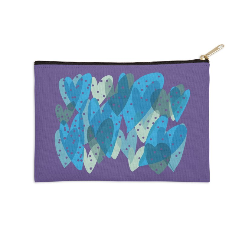 Blue Hearts Accessories Zip Pouch by Michael Pfleghaar