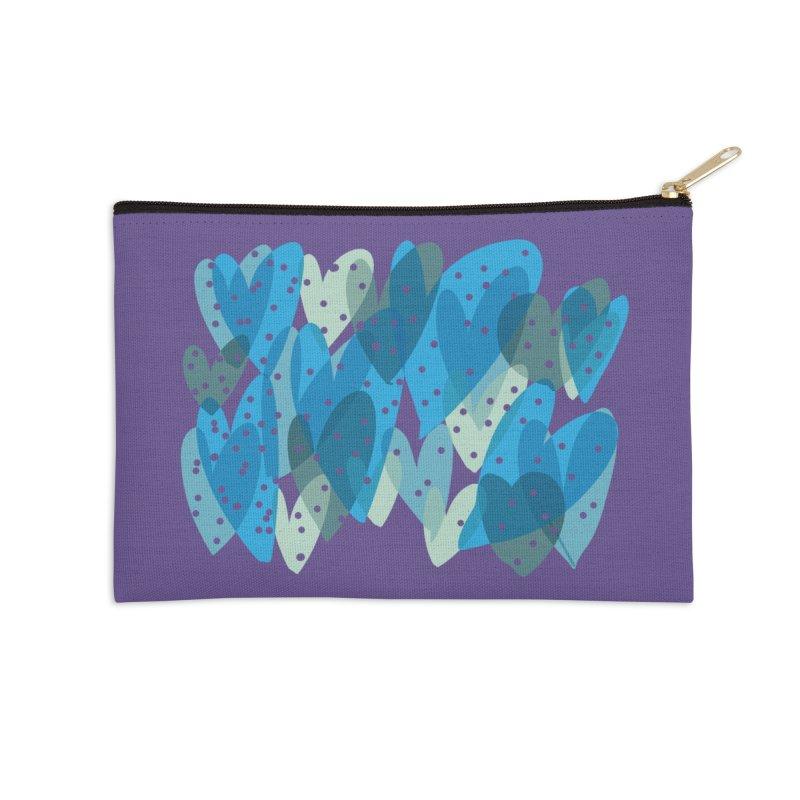 Blue Hearts Accessories Zip Pouch by Michael Pfleghaar