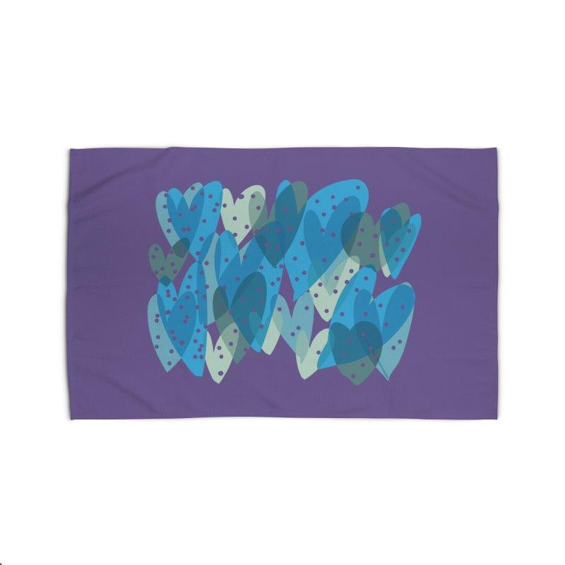 Blue Hearts Home Rug by Michael Pfleghaar