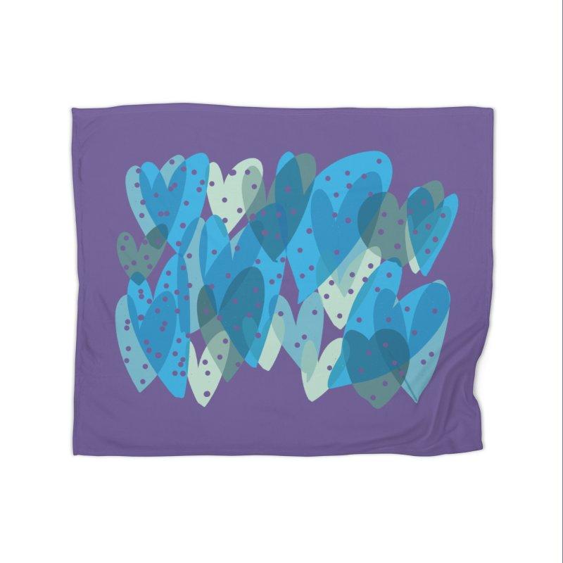 Blue Hearts Home Blanket by Michael Pfleghaar