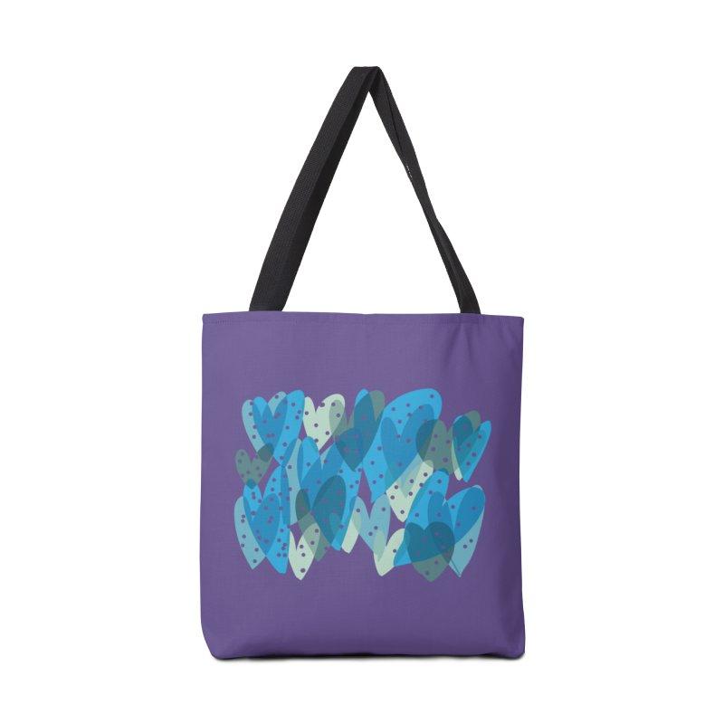 Blue Hearts Accessories Bag by Michael Pfleghaar