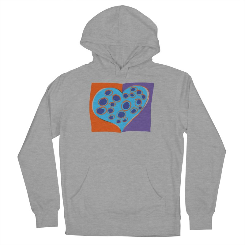 Spotted Heart Men's French Terry Pullover Hoody by Michael Pfleghaar