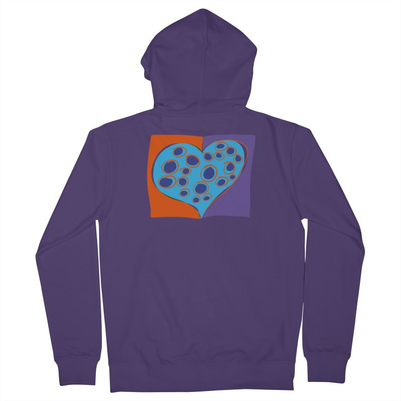 Spotted Heart Women's French Terry Zip-Up Hoody by Michael Pfleghaar