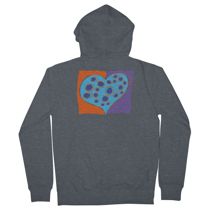 Spotted Heart Men's French Terry Zip-Up Hoody by Michael Pfleghaar