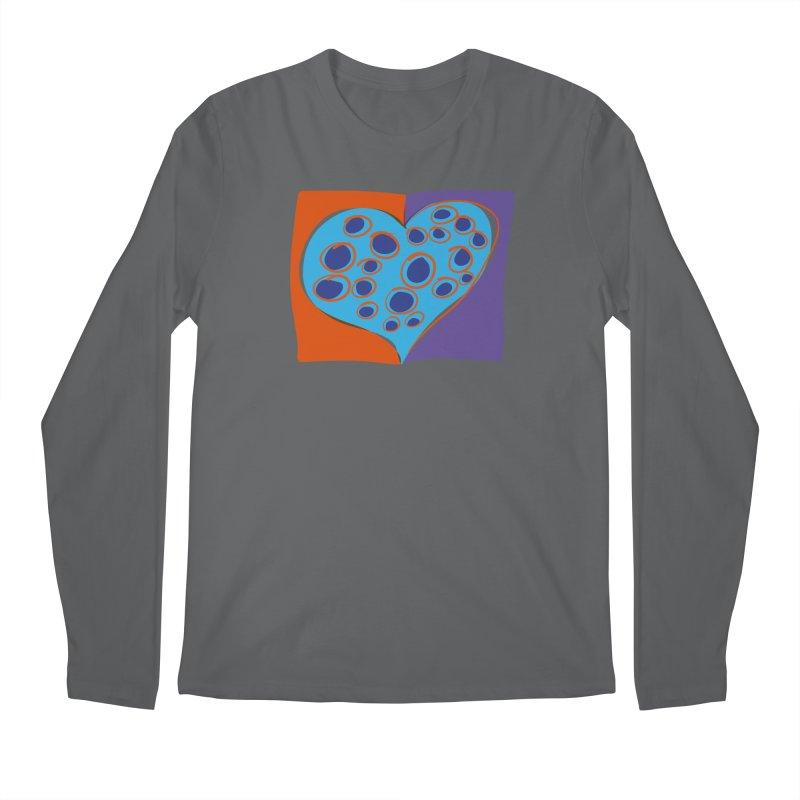 Spotted Heart Men's Regular Longsleeve T-Shirt by Michael Pfleghaar