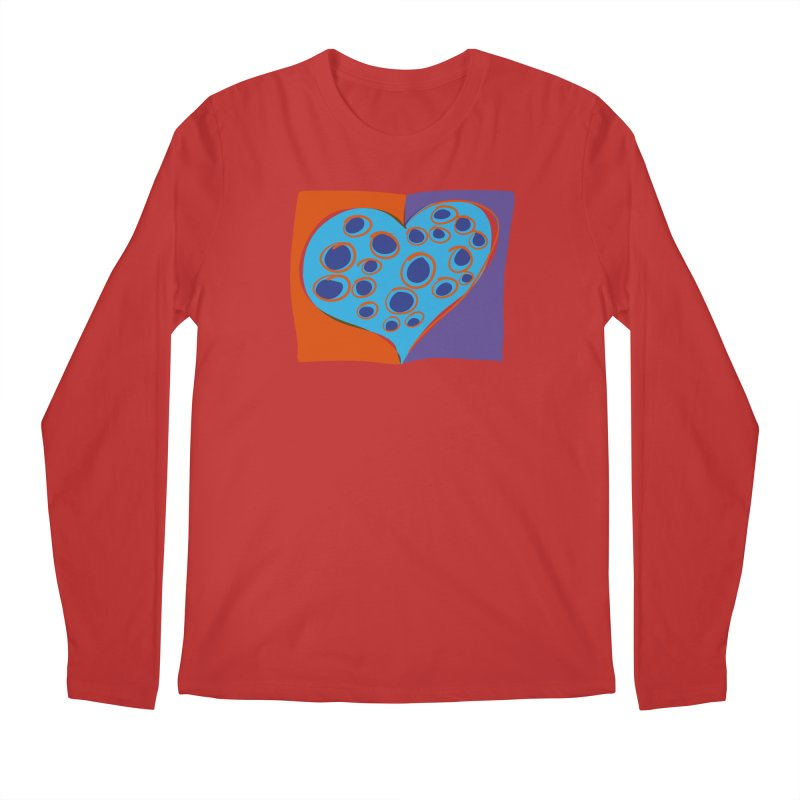 Spotted Heart Men's Longsleeve T-Shirt by Michael Pfleghaar